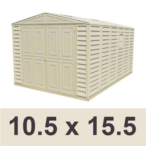 duramax 01016 10 5x15 5 vinyl garage shed on sale with