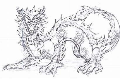 Dragon Chinese Drawing Deviantart Cool Favourites