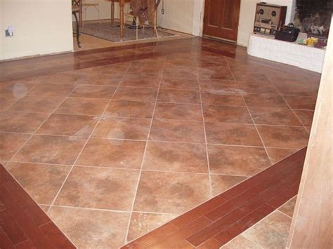 kitchen tile borders tile flooring with wood border kitchen remodel 3243