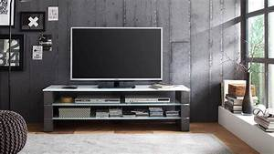 Lowboard Weiß Grau : tv rack olivias tv board lowboard beton grau und glas wei ~ Orissabook.com Haus und Dekorationen