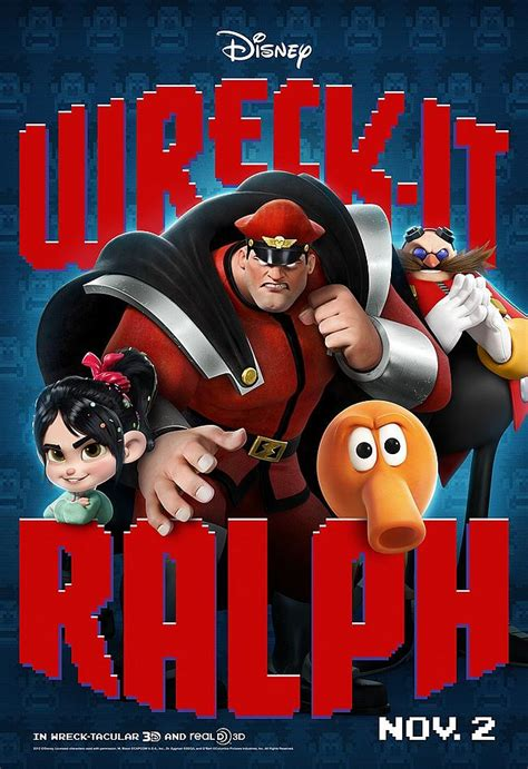 wreck  ralph posters  street fighters  bison