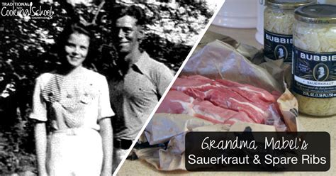 grandma mabels sauerkraut  spare ribs traditional