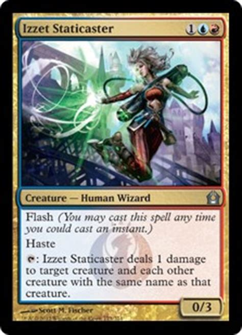 izzet staticaster return to ravnica gatherer magic