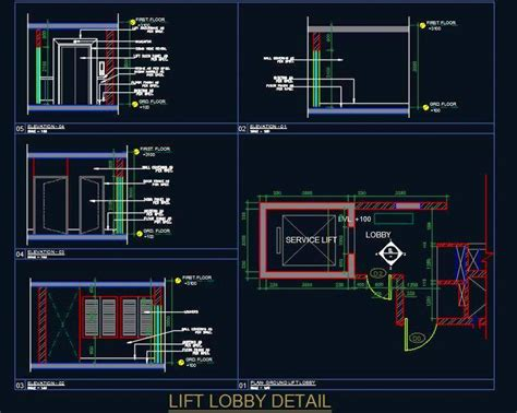 Lighting In The Kitchen Ideas - lift lobby elevation detail plan n design