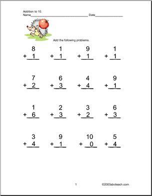 13 Best Images Of Addition Within 10 Worksheets  Kindergarten Addition Worksheets Plus 1