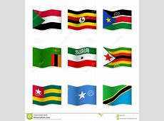 Waving Flags Of Different Countries Stock Vector Image