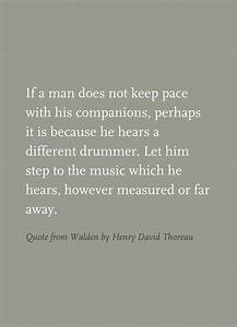 Quote from Wald... Thoreau Book Quotes