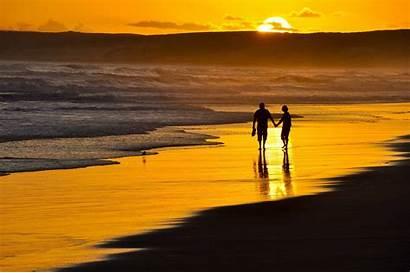 Beach Romantic Night Walk Sunset Romance Guy