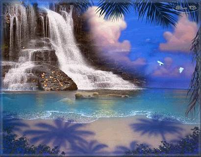Waterfall Animated Giphy Centerblog Bouge Anime Nur