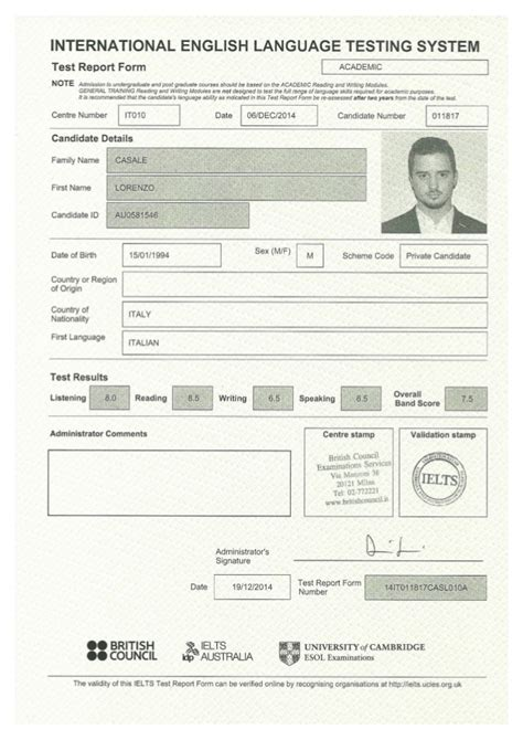Number Full Form by Ielts Certificate Lorenzo Casale