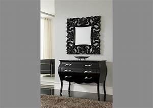 Miroir Baroque Noir : acheter votre miroir style baroque noir chez simeuble ~ Teatrodelosmanantiales.com Idées de Décoration
