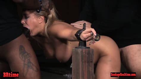 Restrained Bondage Babe Spit Roasted Eporner