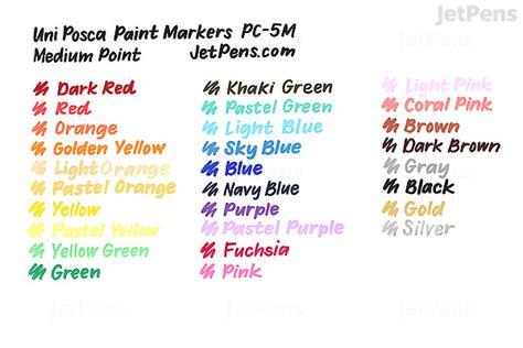 uni posca paint marker pc  medium point  color set