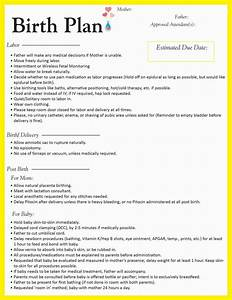 25 best ideas about natural birth plans on pinterest With planned c section birth plan template