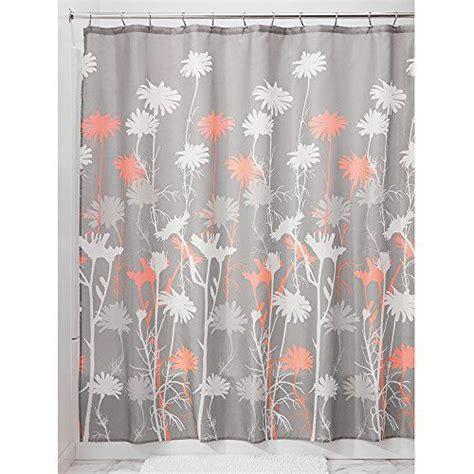 interdesign daizy shower curtain     gray