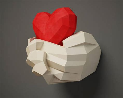papercraft with 3d paper craft wall decor diy gift valentines day paper