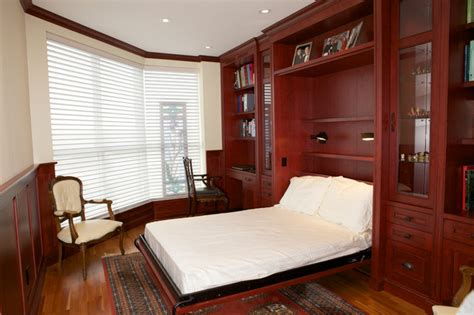 condo office and murphy bed built ins traditional bedroom toronto by absolute cabinets inc