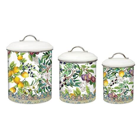 tuscan kitchen canister sets michel design works kitchen 3 canister set tuscan