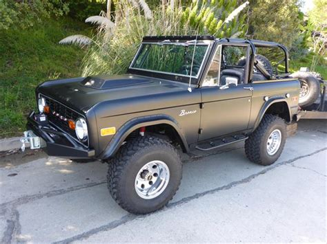 old bronco jeep 73 classic fuel injected matte black ford bronco for sale