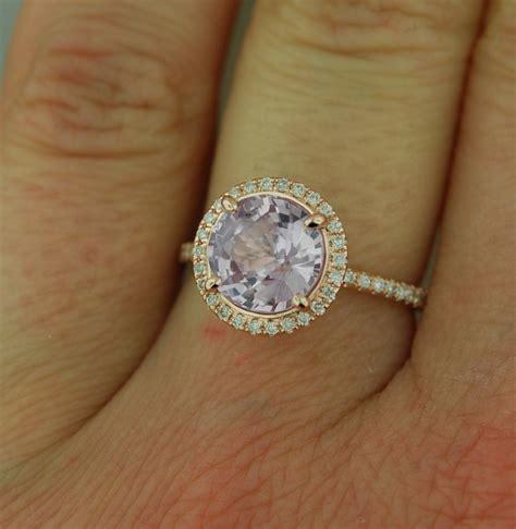 gold engagement ring lavender purple by eidelprecious etsy