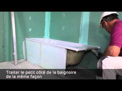 Habillage D'une Baignoire En Carreaux De Platre Pf3 Youtube