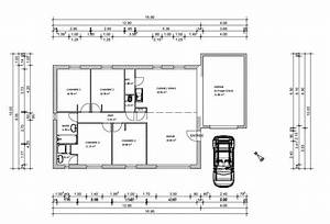 plan maison plein pied 100m2 rectangle 102 messages With plan de maison 100m2 3 plan de maison plain pied 3 chambres sans garage ideo