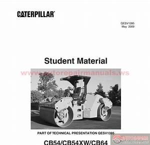 Cat Vibratory Roller Cb54 Cb64 Qesv1395 Instructor Guide