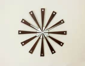 Infinity Mirror Clock by Modern Wood Wall Clock Contemporary Clocks By Bellacor