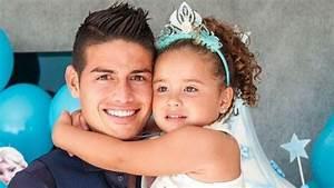 James Rodriguez marca un gol y su hija lo celebra