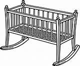 Crib Clipart sketch template