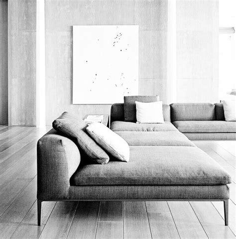 Grey Sectional Sofa Living Space Spacious Minimalist