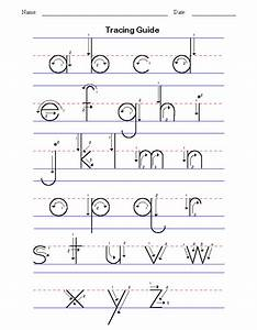 handwriting for kids manuscript alphabet tracing guide With manuscript letters for kindergarten