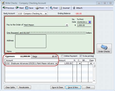 QuickBooks Payroll Tip - Tracking Employee Advances or