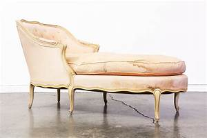 Vintage French Style Chaise Lounge with Down Feather Vintage Supply Store