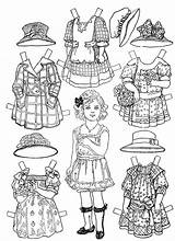 Dolls Paper Printable Coloring Victorian Printablee sketch template