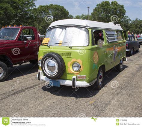 volkswagen hippie van front vw cer van editorial image cartoondealer com 75813802