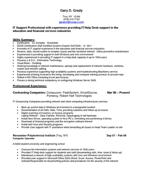 Sle Computer Help Desk Resume by Technology Technician Resume Sales Technician Lewesmr