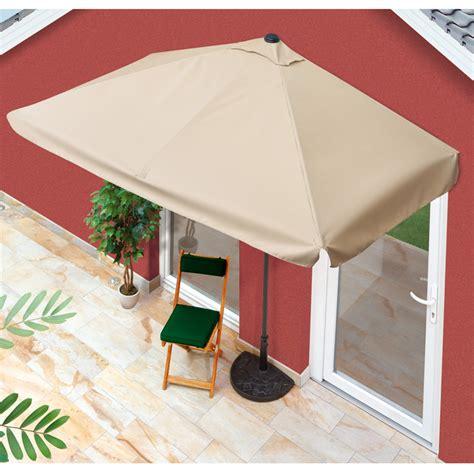 sonnenschirm eckig balkon easymaxx sonnenschirm rechteckig hauswand balkon uv schutz 40 beige 230x140 ebay