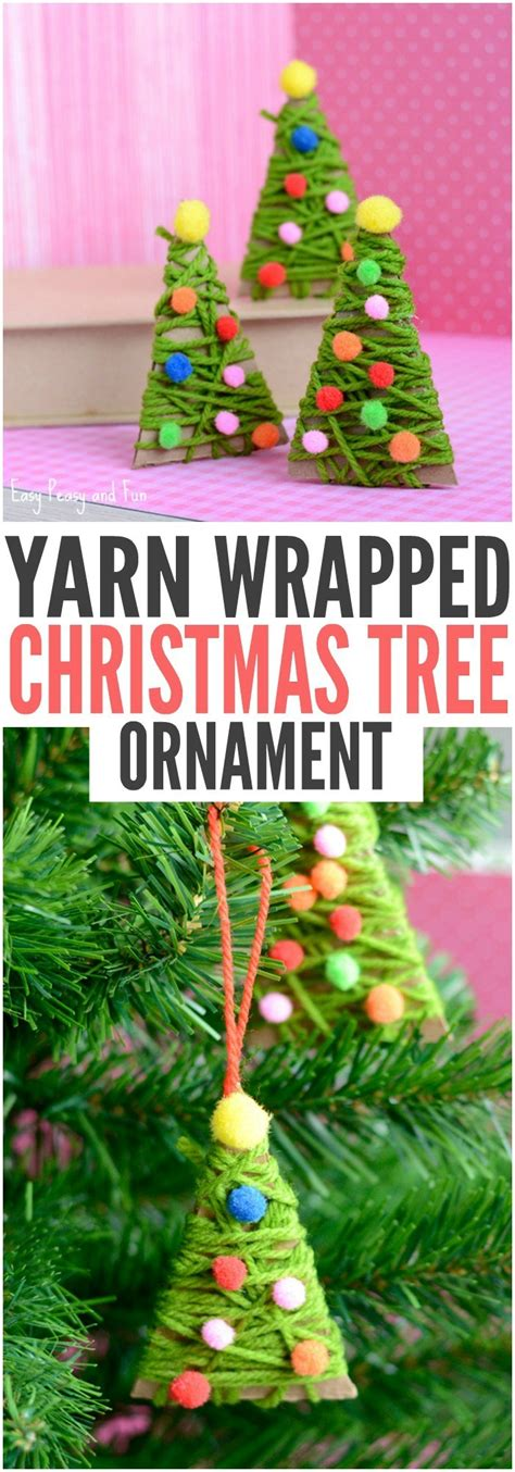 yarn wrapped tree ornaments 25 interesting ideas to make easy crafts diy 7363