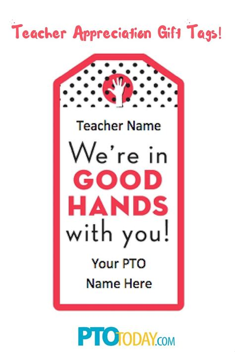 printable gift tags  teacher gifts teacher