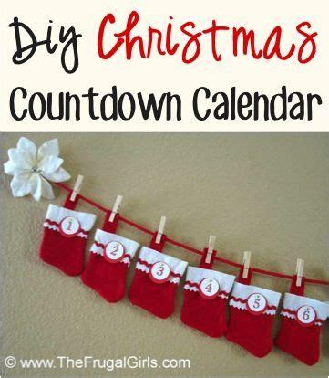 diy craft down countdown calendar craft from thefrugalgirls such a twist on an advent