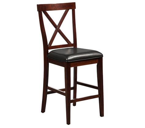 dreamfurniture jackson pub chair with faux leather