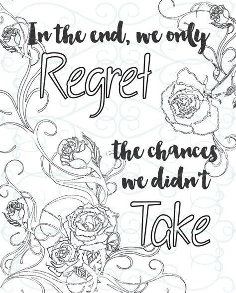 adult inspirational coloring page printable    chance
