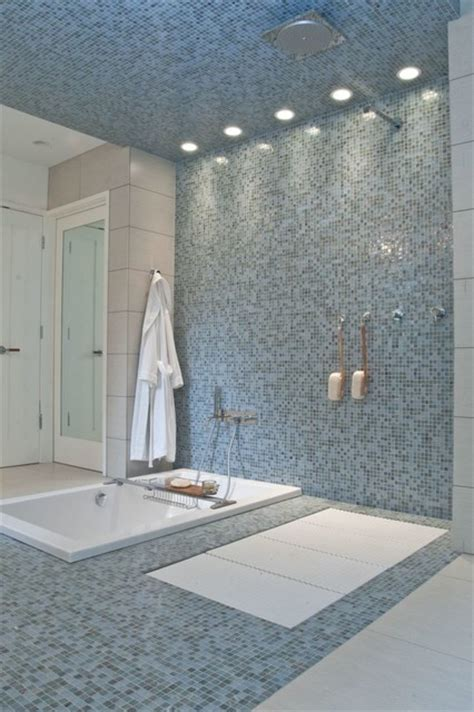 Curbless Shower, with Lacava Tatami Shower Pan   Contemporary   Bathroom   indianapolis   by