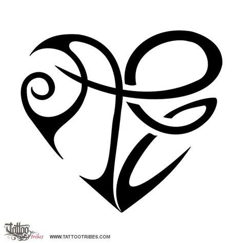 tatuaggi cuore e lettere tatuaggio di cuore a e unione custom