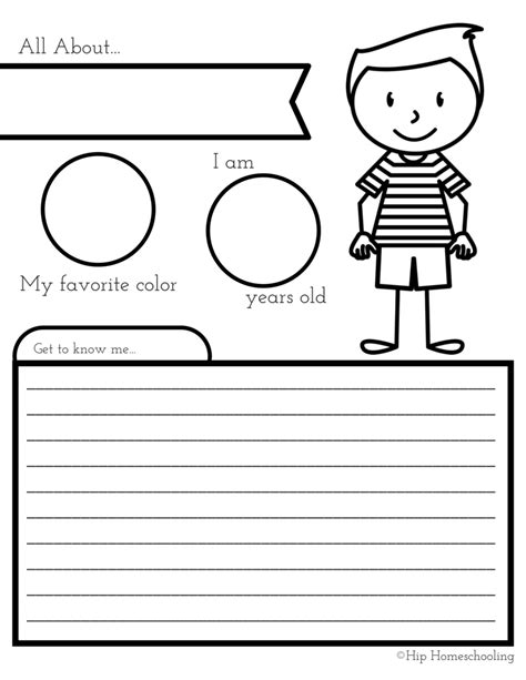 all about me worksheet preschool worksheets for