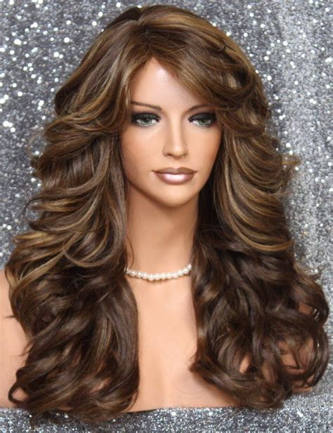 long full  luscious heat safe wavy wig  romantic