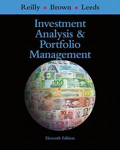 Investment And Portfolio Analysis Reilly Brown Manual