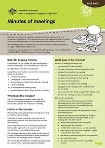 7  Corporate Minutes Of A Meeting Templates