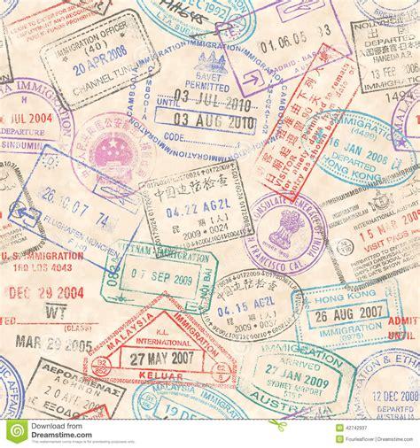 passport stamps seamless texture stock vector image